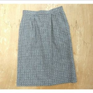 Vintage The Villager grey wool pencil skirt small